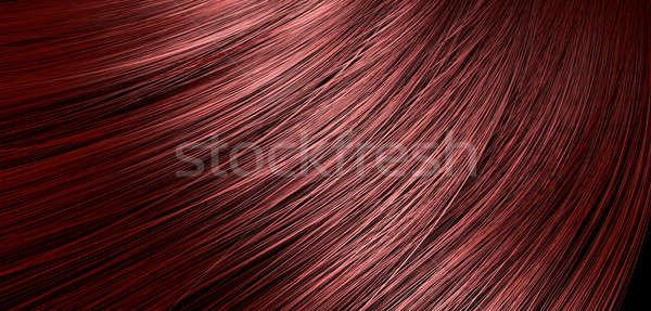 Red Hair Blowing Closeup Stock photo © albund