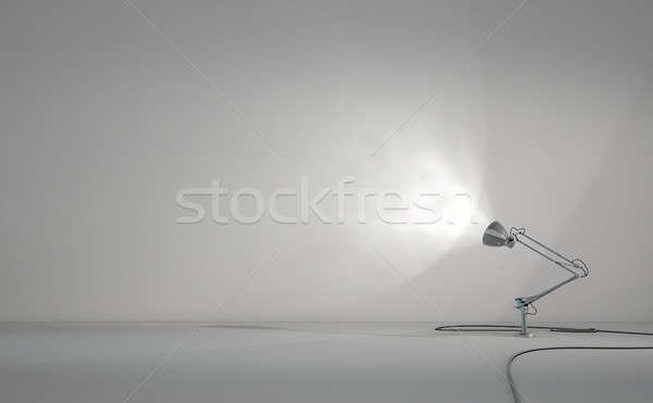 Bağbozumu lamba duvar 3d render büro ışık Stok fotoğraf © albund