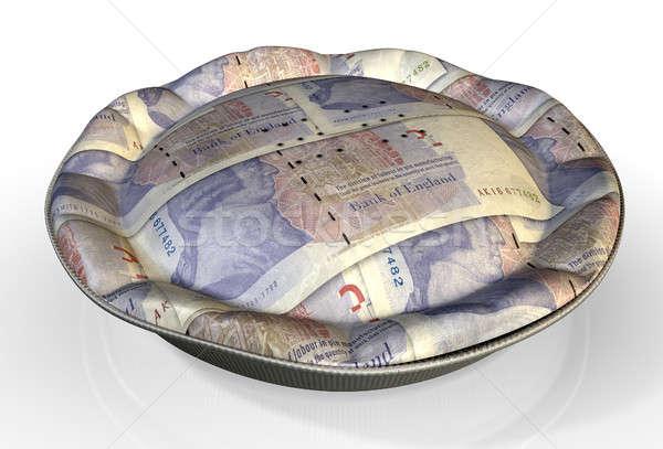 Argent tarte britannique livre perspectives vue Photo stock © albund