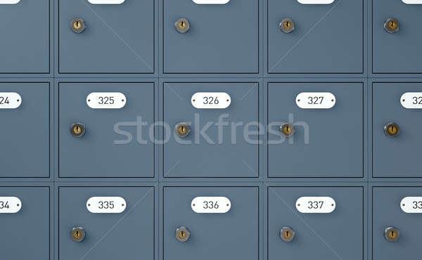 Bureau de poste cases rendu 3d banque mail métal Photo stock © albund