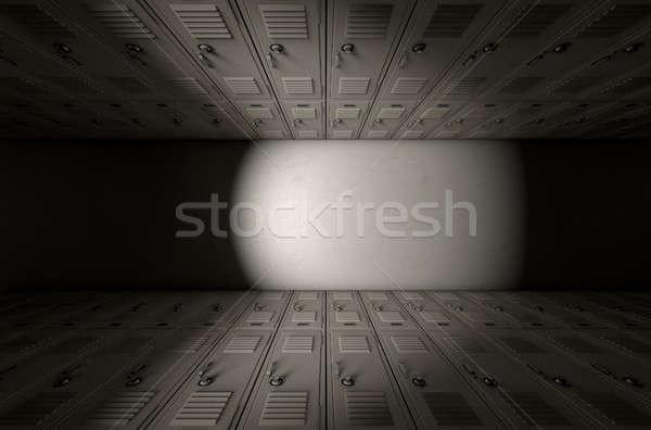 школы ящик коридор Top мнение Сток-фото © albund