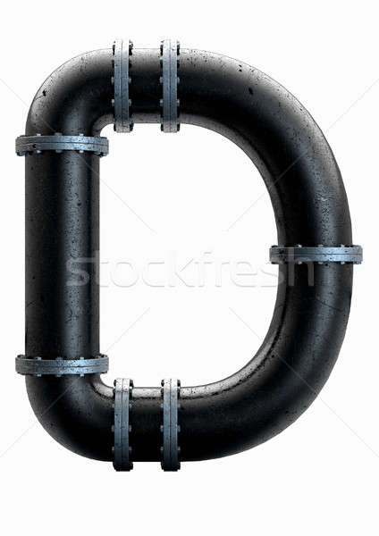 PVC Pipe Letter Concept Stock photo © albund