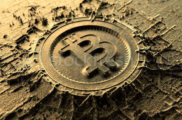 Cryptocurrency Casting Bitcoin Stock photo © albund