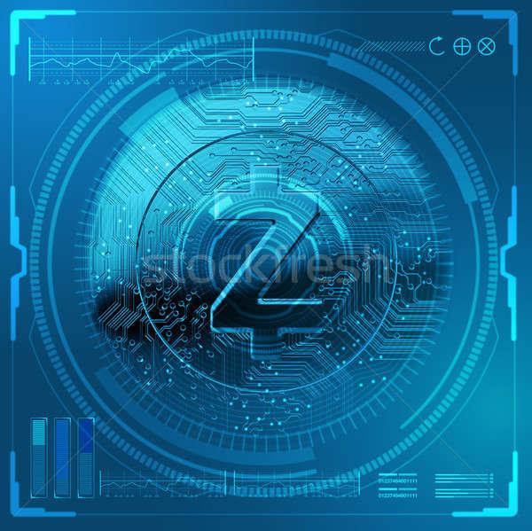 Cryptocurrency Zcash Futuristic Stock photo © albund