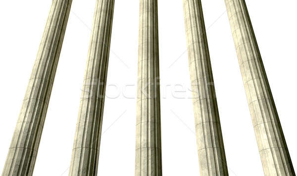 Justice Columns Perspective Stock photo © albund