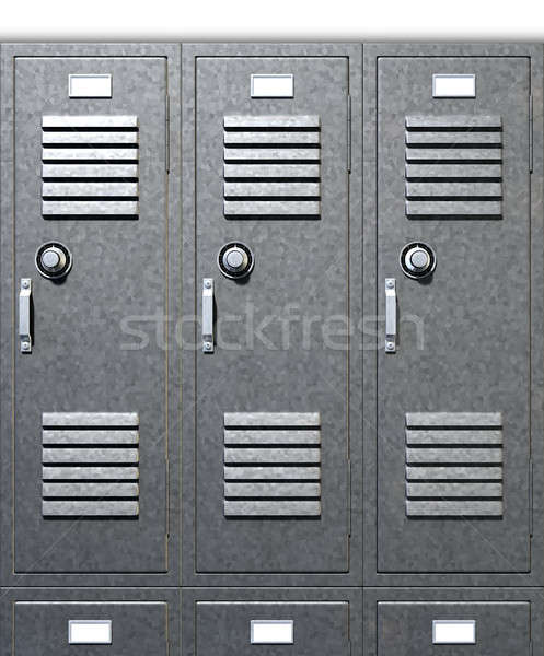 Grey School Lockers Front Stock photo © albund