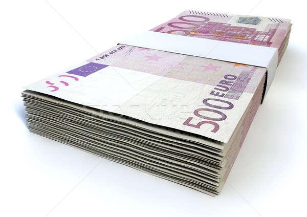 Euro Bill Stack Stock photo © albund