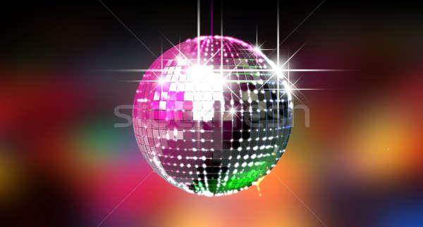 Colorful Glinting Disco Ball Stock photo © albund
