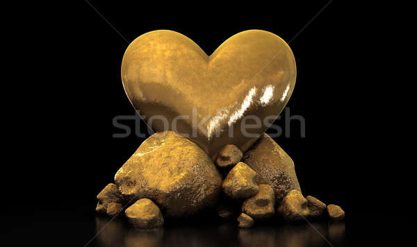 Heart Of Gold Stock photo © albund