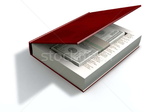 Concealed US Dollar Notes In A Book Front Stock photo © albund