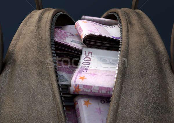 現金 ブラウン 袋 オープン 革 ストックフォト © albund