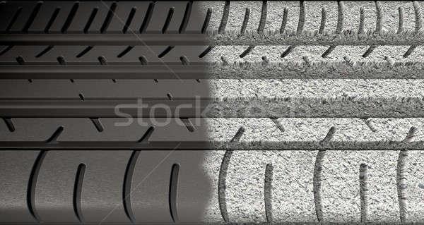 Tyre Tread Morphing To Asphalt Stock photo © albund