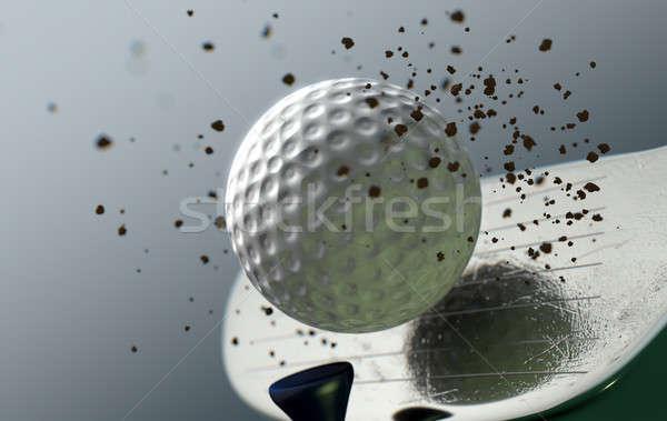 Golf Club Striking Ball In Slow Motion Stock photo © albund
