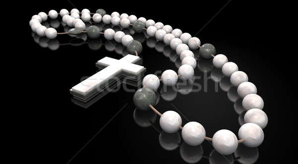 Stone Rosary Beads Stock photo © albund
