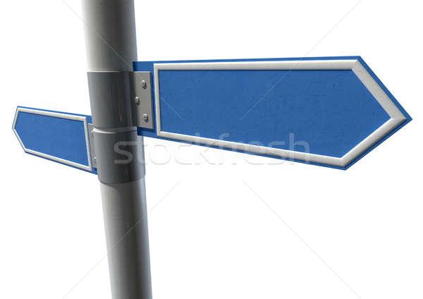 Сток-фото: пару · указывая · признаков · два · общий · улице