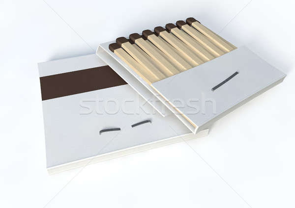 Books Of Open Matches Stock photo © albund