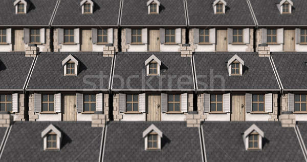 Cottage Neighbour Collage Stock photo © albund