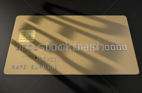 Debt Shadow Credit Card Stock photo © albund