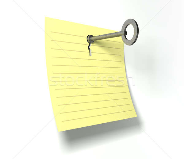 Keynote Key In A Note Stock photo © albund
