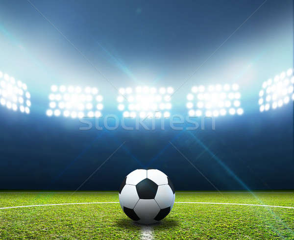Stadium And Soccer Ball Stock photo © albund