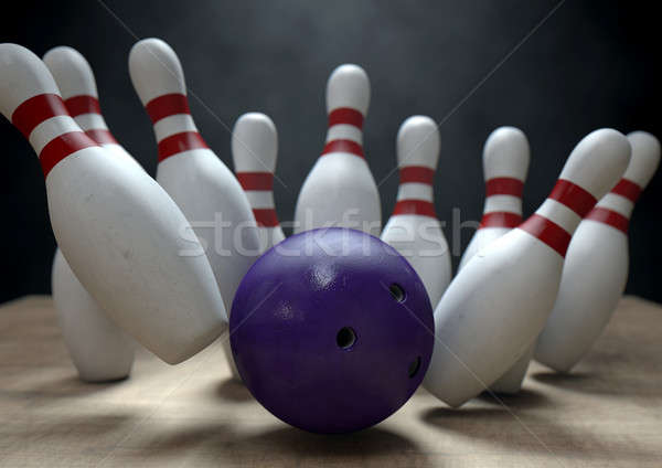 Ten Pin Bowling Pins And Ball Stock photo © albund