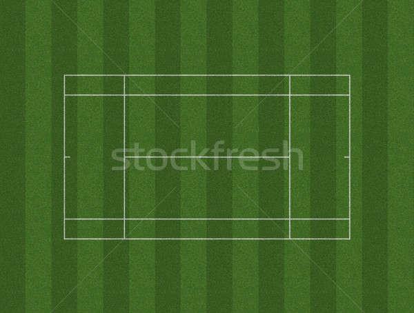 Tennis Court Lawn Layout Stock photo © albund