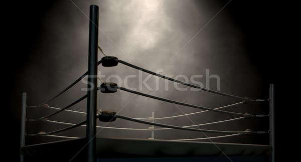 Clássico vintage boxe anel velho cordas Foto stock © albund