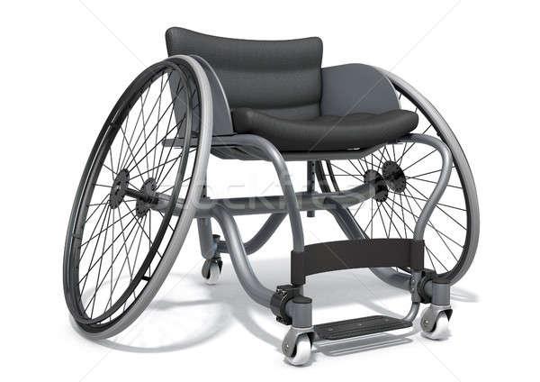 Sport rolstoel gebruikt gehandicapten Stockfoto © albund