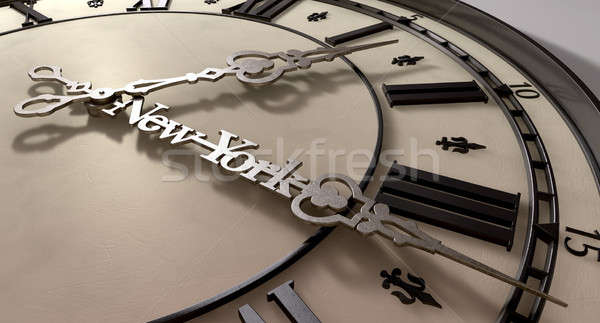 New York Minute Clock Hands Stock photo © albund