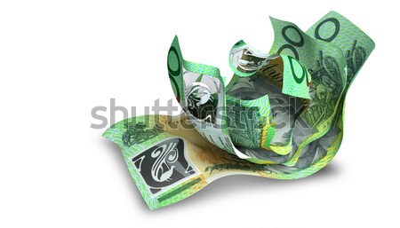 Rolled Up And Shackled Australian Dollar Notes Standing Stock photo © albund