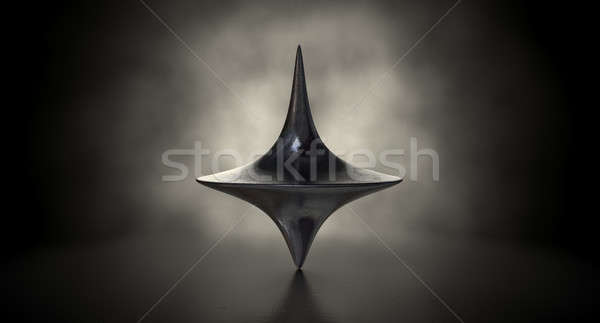 Die Cast Spinning Top Silhouetted Stock photo © albund