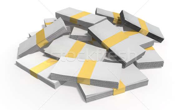 általános jegyzetek köteg bankjegyek izolált pénz Stock fotó © albund