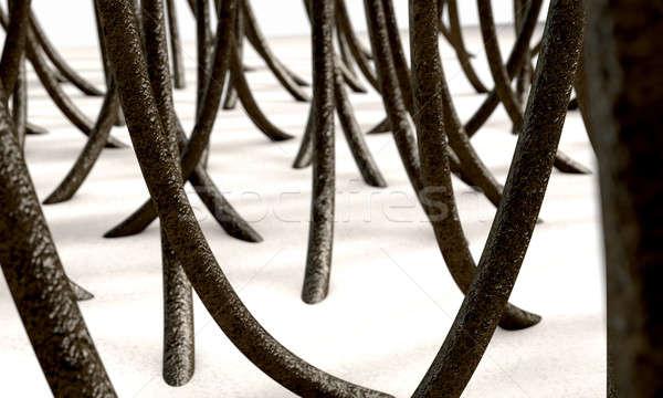 Microscopic Hair Fibers Stock photo © albund