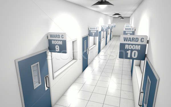 Hospital Hallway Stock photo © albund