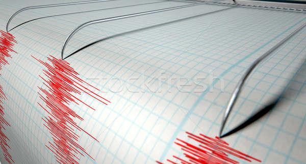 地震 活動 クローズアップ マシン 針 図面 ストックフォト © albund