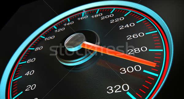 Speedometer Fast Speed Stock photo © albund