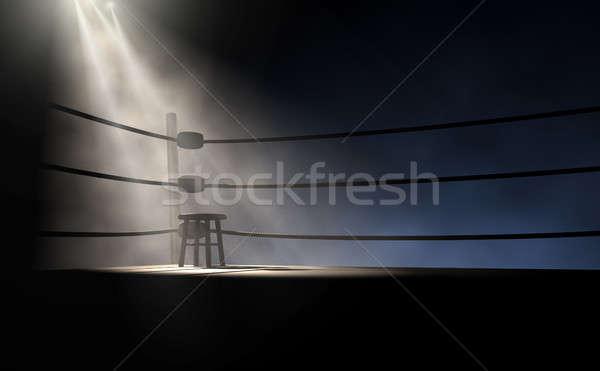 Vintage Boxing Corner And Stool Stock photo © albund