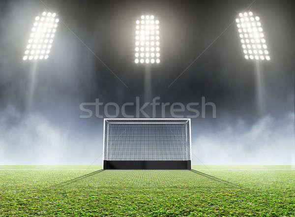 Sports Stadium And Hockey Goals Stock photo © albund