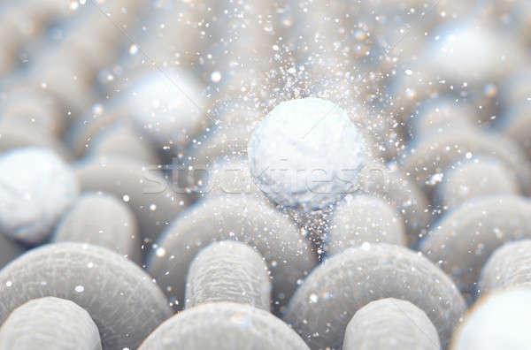 Micro tejido lavado polvo microscópico Foto stock © albund