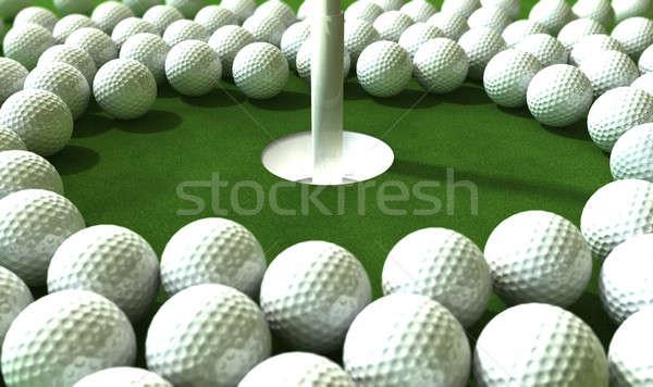 гольф дыра нападение массив зеленый Сток-фото © albund