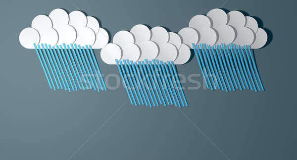 Abstract Cutout Cartoon Rainclouds Stock photo © albund