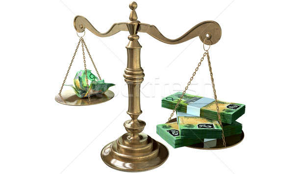 Inequality Scales Of Justice Income Gap Australia Stock photo © albund