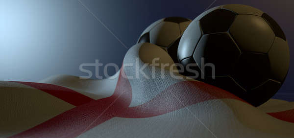 England Flag And Soccer Ball Stock photo © albund