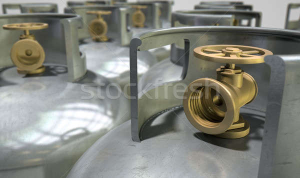 Gas Cylinders Collection Stock photo © albund