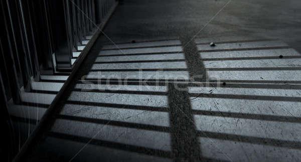 Cela barras sombras ver prisão Foto stock © albund