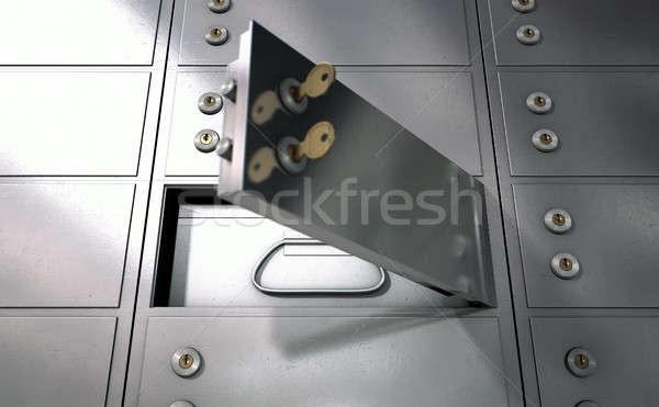 безопасности депозит коробки стены закрыто Сток-фото © albund