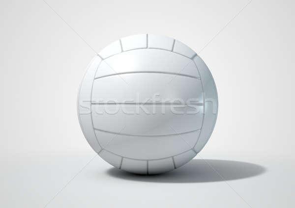 Röplabda izolált 3d render rendszeres fehér stúdió Stock fotó © albund