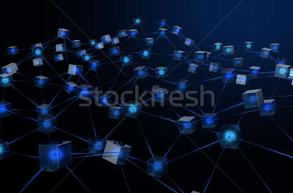 Blockchain Data Network Stock photo © albund