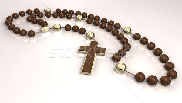 Wooden Rosary Beads Stock photo © albund