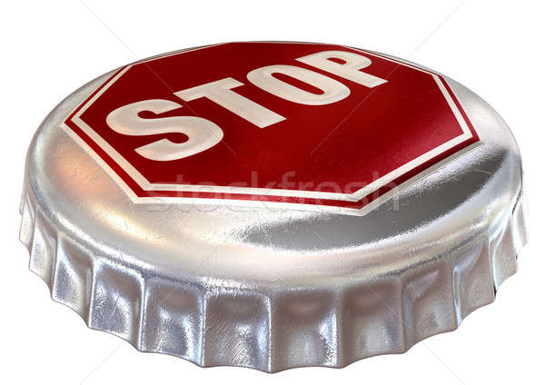 Capped Limit Stop Sign Cap Stock photo © albund